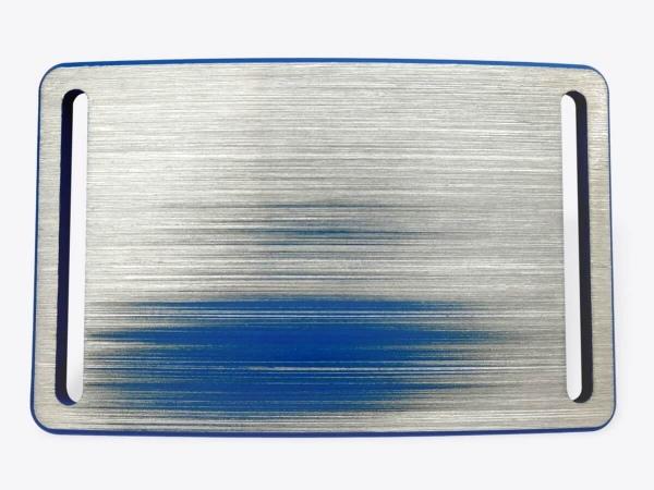 Schnalle M blau handgeschliffen