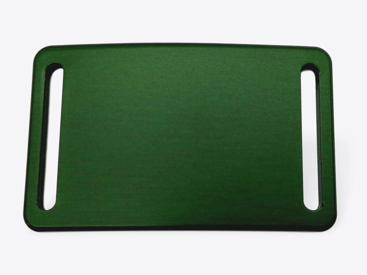 Schnalle S eloxiert waldgrün