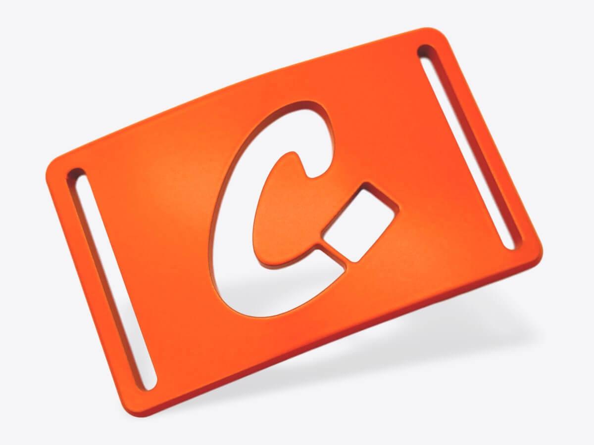 Schnalle M orange